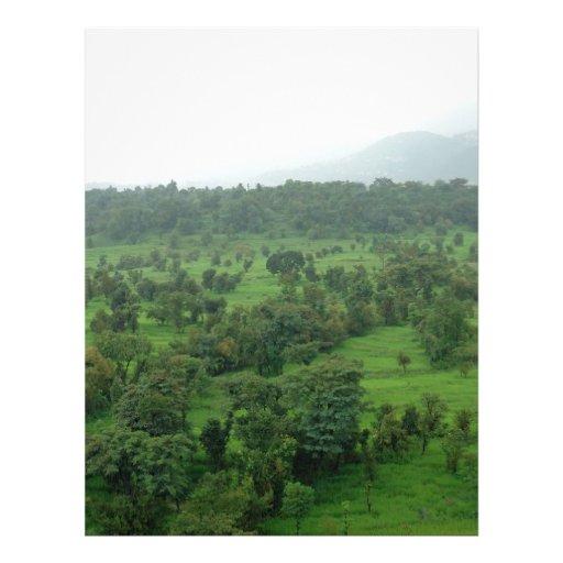 A beautiful green countryside letterhead
