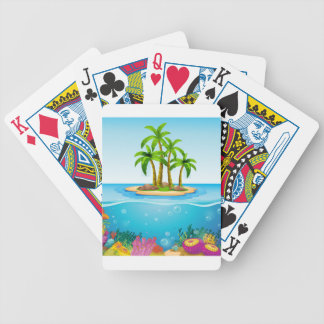 A beautiful island in the middle of the sea poker deck