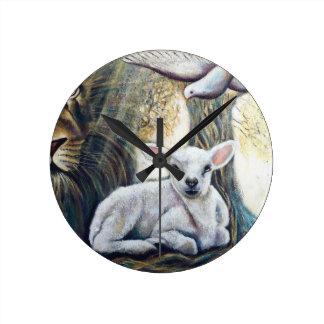 A beautiful Lamb of God wall Clock