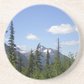 A Beautiful Mountain Scene Beverage Coaster