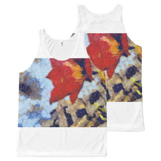 A beautiful red lily All-Over-Print tank top