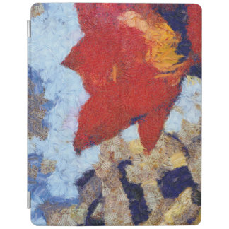 A beautiful red lily iPad cover