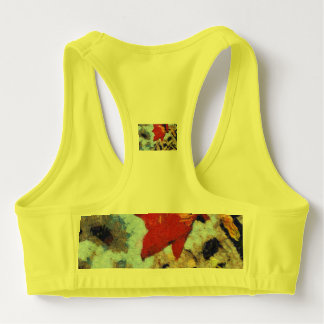 A beautiful red lily sports bra