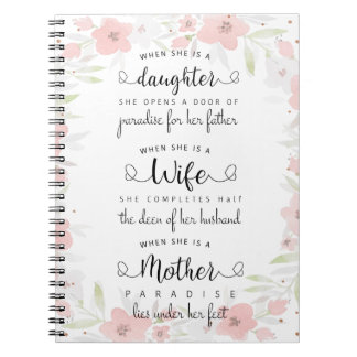 A beautiful saying notebook! notebook