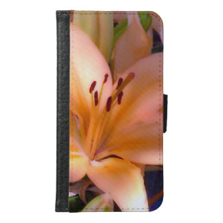 A - Beautiful Shaded Orange Lily Samsung Galaxy S6 Wallet Case