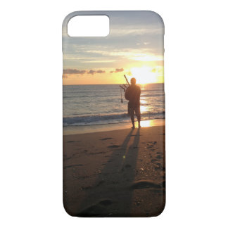a beautiful sunrise at the beach with music iPhone 8/7 case