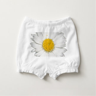 A Beautiful Yellow And Wild White Daisy Diaper Cover