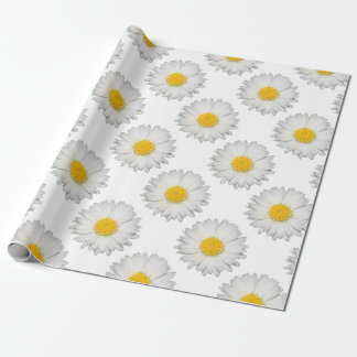 A Beautiful Yellow And Wild White Daisy Wrapping Paper