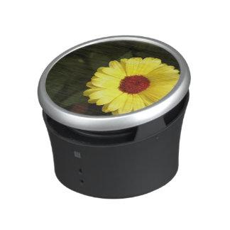A beautiful yellow flower bluetooth speaker
