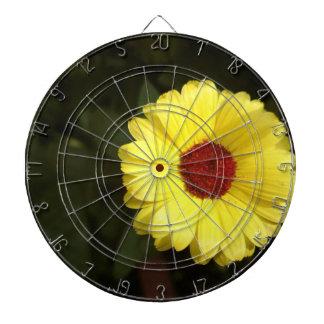 A beautiful yellow flower dart boards