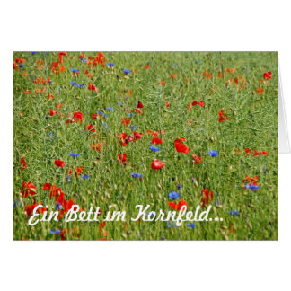 A bed in the corn field… greeting card