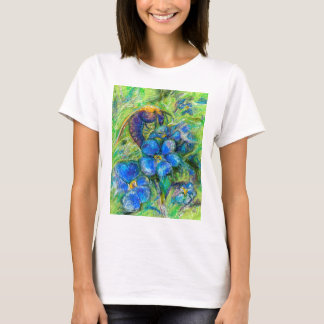A Bee & Forget-me-not Flowers T-Shirt