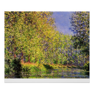 A bend of the Epte, Giverny by Claude Monet Poster