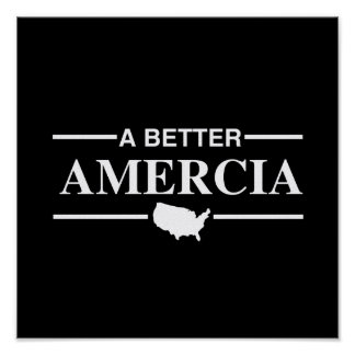 A Better Amercia Logo - png Poster