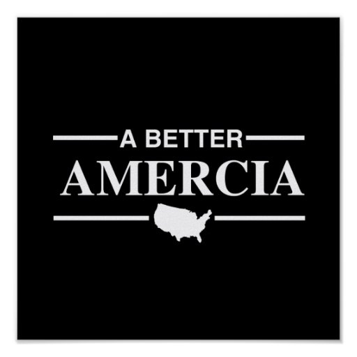 A Better Amercia Logo -.png Poster