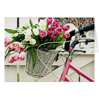 "A BICYCLE-FLOWERS-AND LOVE AT ""EASTER"" CARD"