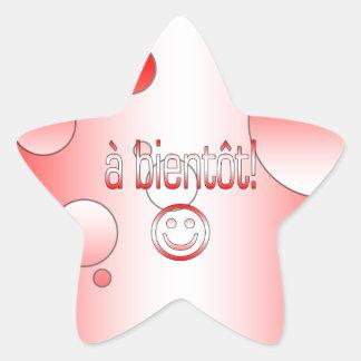 A Bientôt! Canada Flag Colors Pop Art Star Sticker