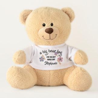 A Big Bear Hug for Nurse | Custom Name Teddy Bears