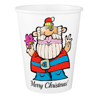 A Big, Giant, Merry Christmas Santa Paper Cup! Paper Cup
