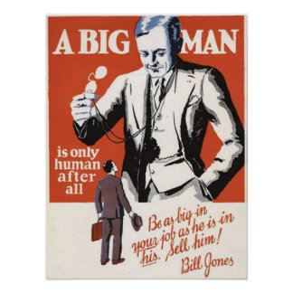 A Big Man Is Human After All Poster