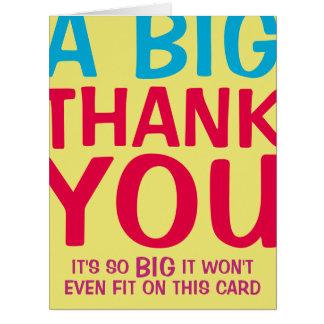 A Big Thank You Card
