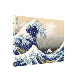 A big wave off Kanagawa by Hokusai Canvas Print
