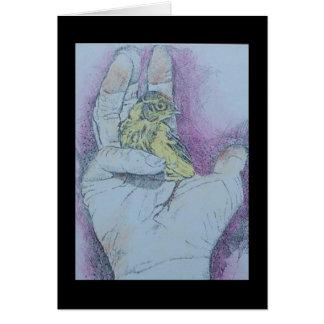 a bird in the hand....... card