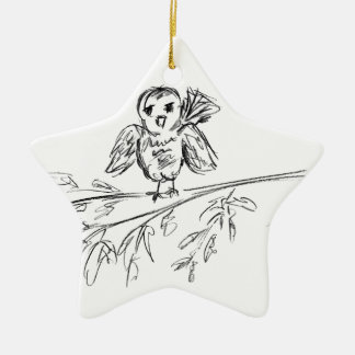 A Bird, The Original Tweet Ceramic Ornament