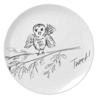 A Bird, The Original Tweet Dinner Plate