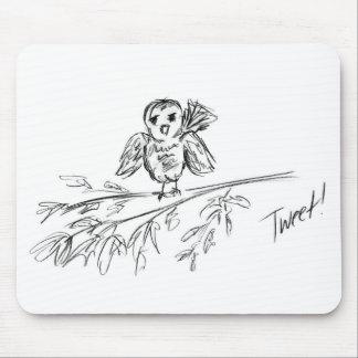 A Bird, The Original Tweet Mouse Pad