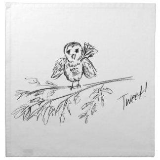 A Bird, The Original Tweet Printed Napkin