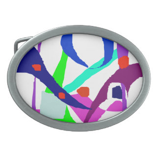 A Birdcage Oval Belt Buckle