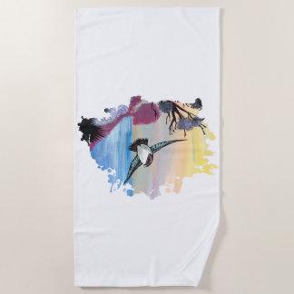 A Birds View Beach Towel
