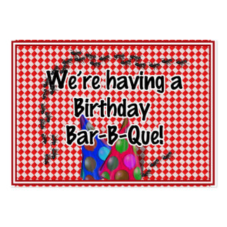 A Birthday Bar-B-Q Party Business Card Template