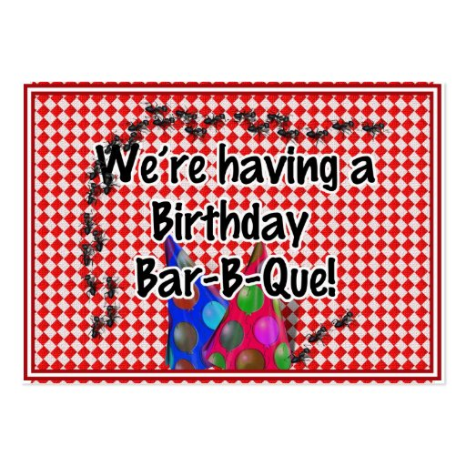 A Birthday Bar-B-Q Party Business Card Template