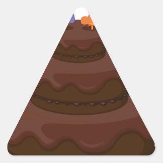 a birthday cake triangle sticker