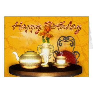 A Birthday Tea, Happy Birthday Card