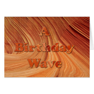 A Birthday Wave Card
