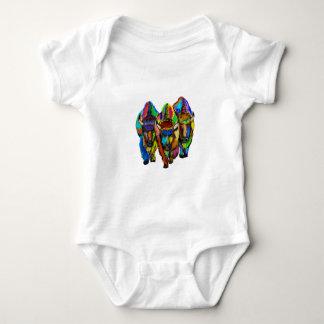 A Bison Trio Baby Bodysuit