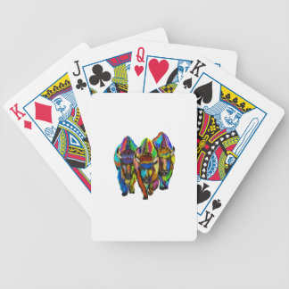 A Bison Trio Bicycle Playing Cards