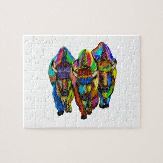 A Bison Trio Puzzles