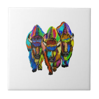 A Bison Trio Tile