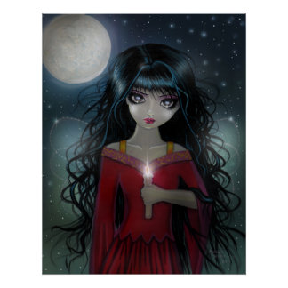 A Bit of Candlelight Fairy Poster Print