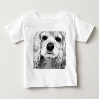 A black and white American cocker spaniel Baby T-Shirt