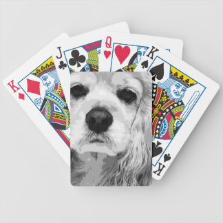 A black and white American cocker spaniel Bicycle Playing Cards