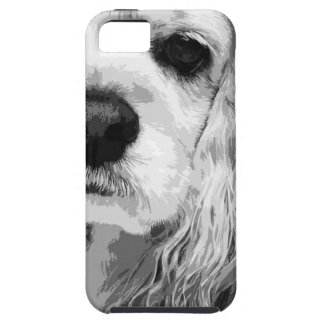 A black and white American cocker spaniel Case For The iPhone 5