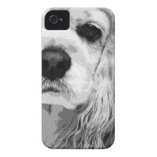 A black and white American cocker spaniel iPhone 4 Cover