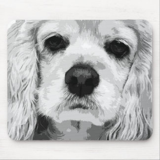 A black and white American cocker spaniel Mouse Pad