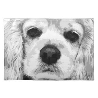 A black and white American cocker spaniel Placemat