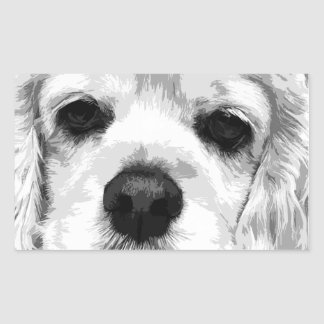A black and white American cocker spaniel Sticker